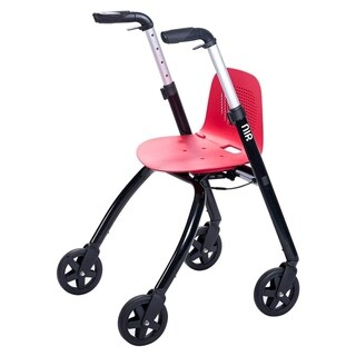 BC2 16.5lbs Rollator Walker with Seat and Auto Brake, Lightweight Folding Mobility Walker with Height Adjustability