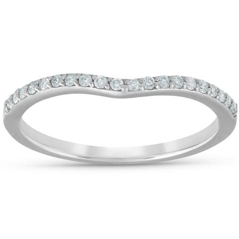 Pompeii3 1/8 ct TDW Diamond Wedding Guard Engagement Ring Enhancer 14k White Gold