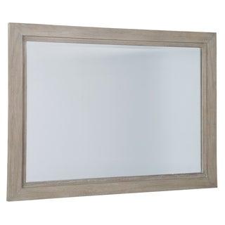 Hekman Furniture Berkeley Heights Distressed White Mindi Wood Wall Mirror
