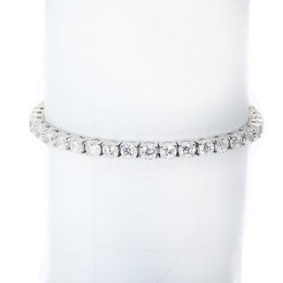 Michael Valitutti Sterling Silver Cubic Zirconia Tennis Bracelet