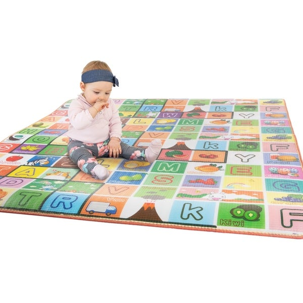 Reversible Baby Play Mat for Babies and Toddlers by Hey! Play!