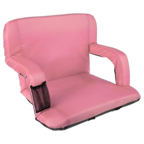 Wide Stadium Seat Chair with Padded Back Support, 6 Reclining Positions and Portable Carry Straps By Home-Complete