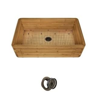 MR Direct 895 Single-Bowl Bamboo Apron Sink Ensemble