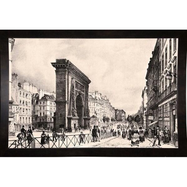 """Paris Port Saint Denis 1835-VINAPP122837 Framed Print 10.5""""x16"""" by Vintage Apple Collection"""