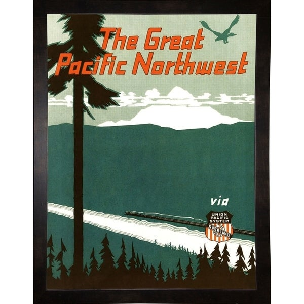 """Pacific Northwest-VINAPP124313 Framed Print 20""""x15.25"""" by Vintage Apple Collection"""