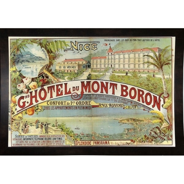 """Hotel Mont Baron-VINAPP116902 Print 13.25""""x20"""" by Vintage Apple Collection"""