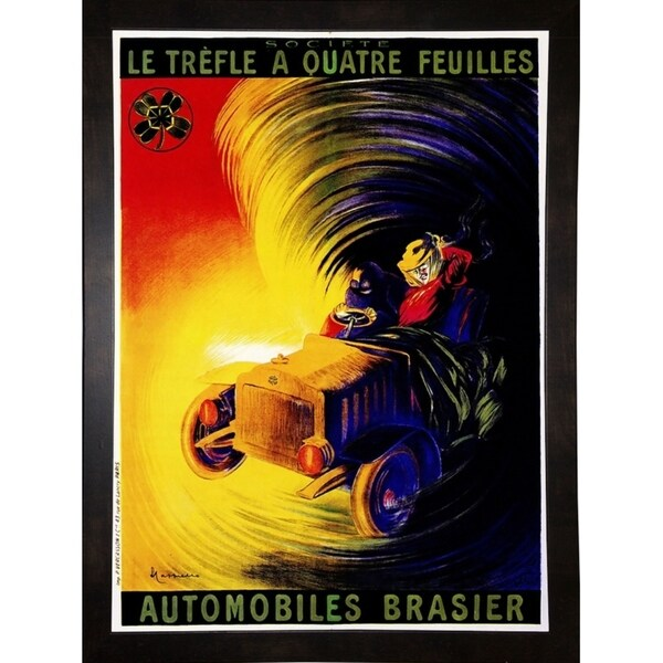 "Automobiles Brasier-VINAPP124303 Framed Print 22""x16"" by Vintage Apple Collection"