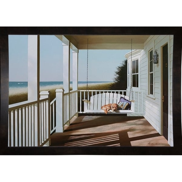 "Swing Chair-ZHELU88086 Framed Print 24""x35.25"" by Zhen-Huan Lu"