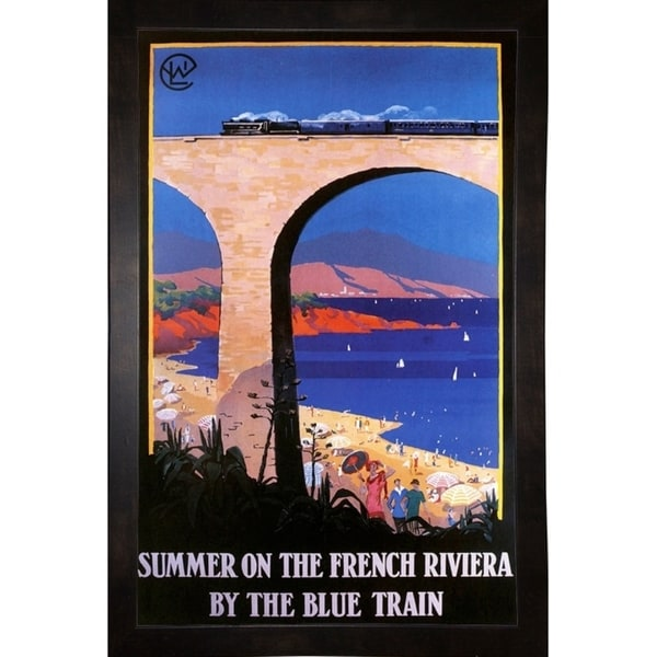 """French Riviera-VINAPP124310 Framed Print 20""""x12.75"""" by Vintage Apple Collection"""
