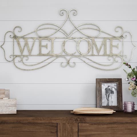 Metal Cutout- Welcome Decorative 3D Word Art BY Lavish Home