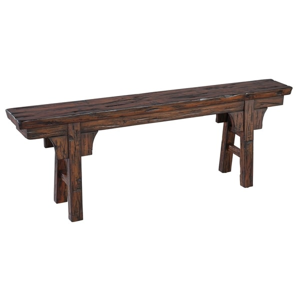 Hekman Furniture Peasant Rustic Old World Solid Wood Entryway Kitchen Indoor Bench Free Shipping Today 24237553