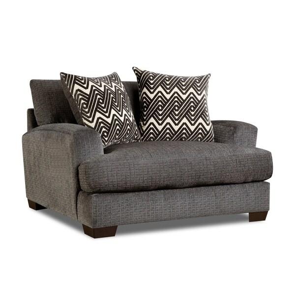 Shop Northam Oversized Arm Chair (Grey/ Cream/ Brown ...