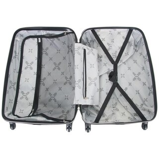 Aimee Kestenberg Diamond Anaconda 24in Lightweight Textured Hardside 4-Wheel Spinner Checked Suitcase