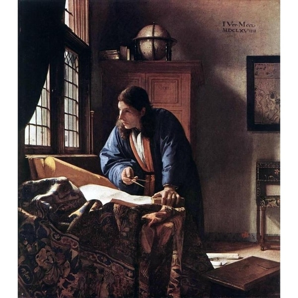 Easy Art Prints Johannes Vermeer's 'The Geographer' Premium Canvas Art