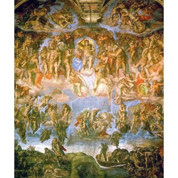 Easy Art Prints Michelangelo's 'The Last Judgement, Sistine Chapel' Premium Canvas Art