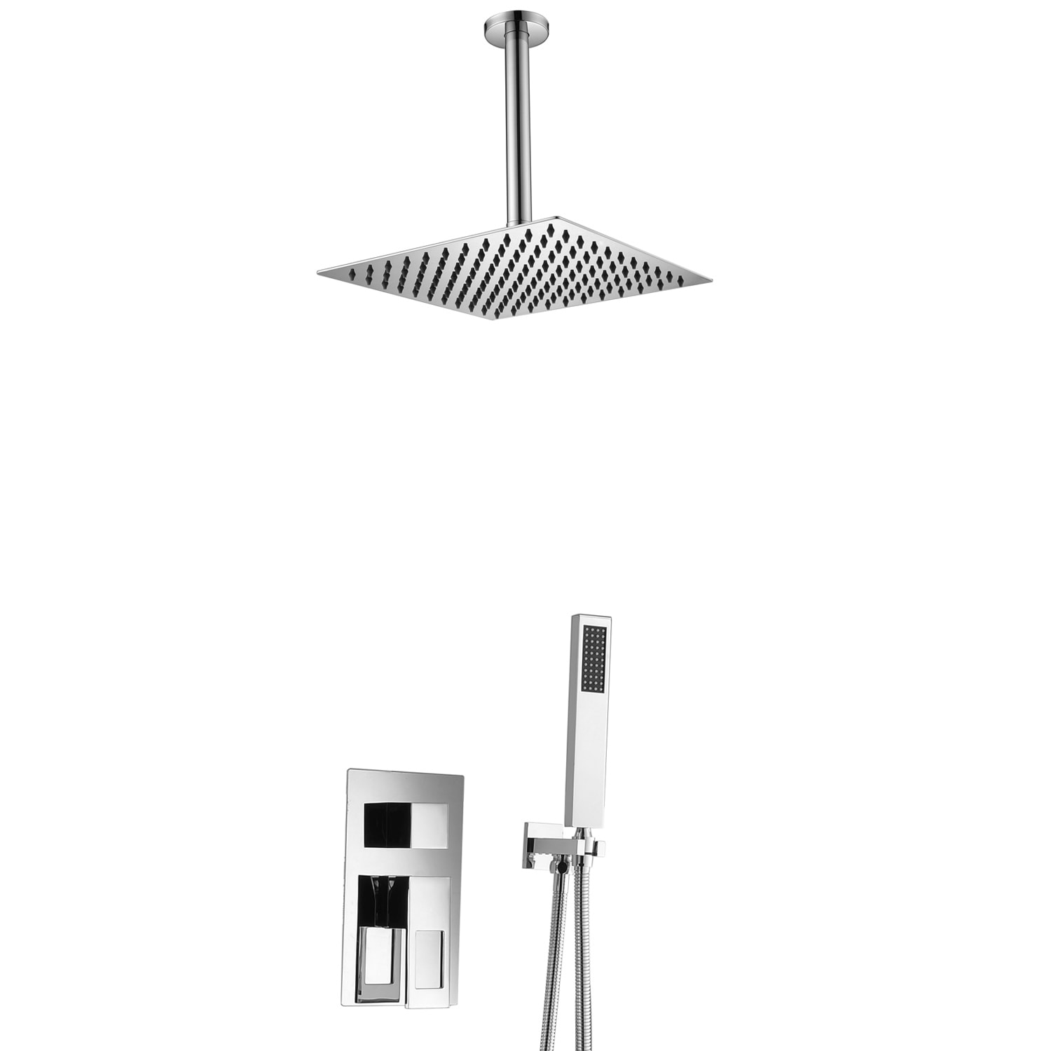 Sumerian Chrome Led Ceiling Soft Rain Shower Head