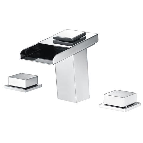 Sumerain Chrome 8-inch LED Widespread Bathroom Sink Faucet