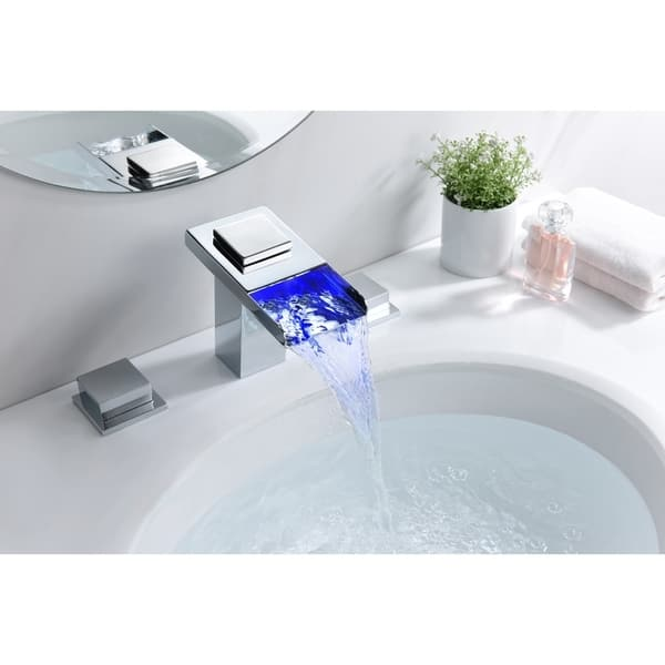 Led Widespread Bathroom Faucet