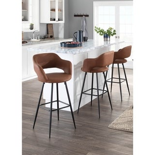 Shop Adel Modern Grey Fabric Bar Stool With Beech Legs