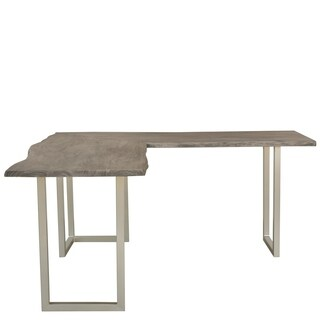 Riverside Furniture Waverly Brown Metal L-desk Base