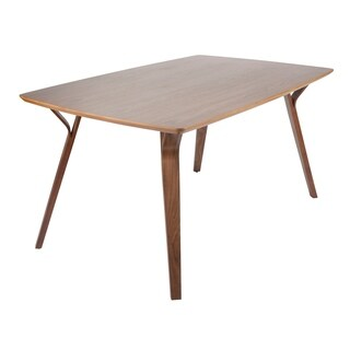 LumiSource Folia Mid-Century Modern Dining Table - Walnut