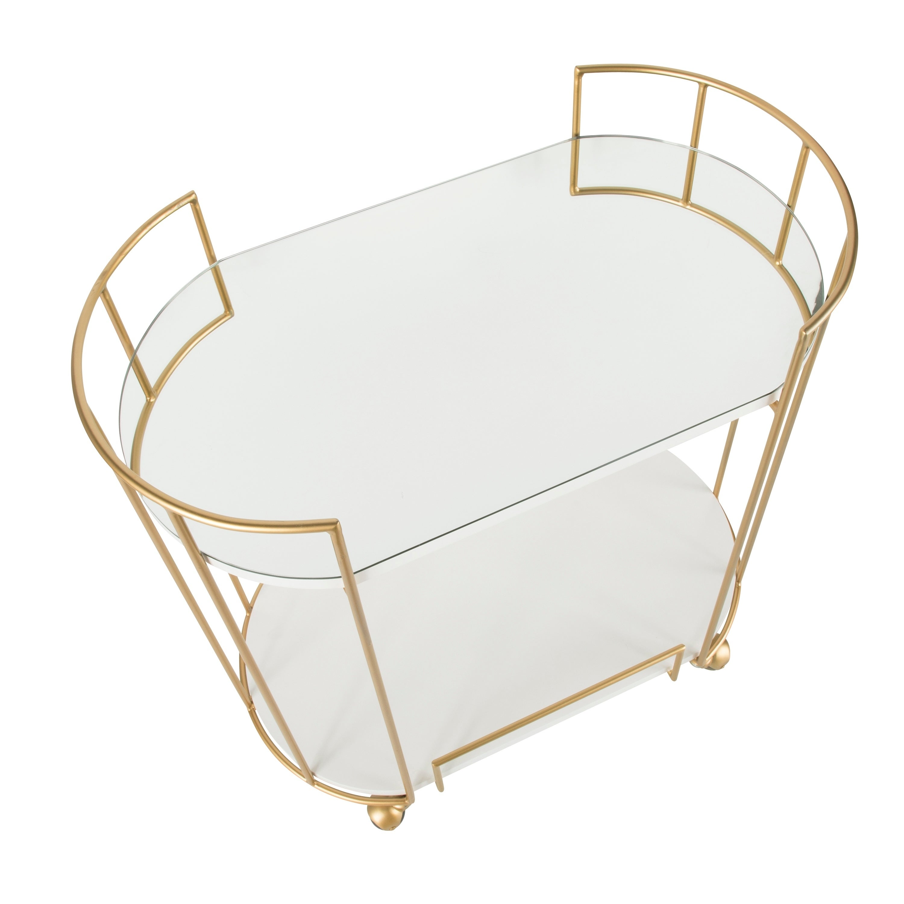 Silver Orchid Pugo Glam Bar Cart With Wheels Overstock 24238471