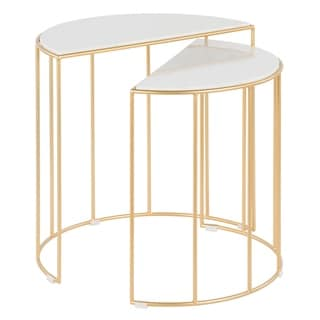 Silver Orchid Pugo Nesting Table