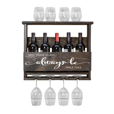 "Del Luxe ""Always Be..."" Top Shelf Wine Rack by Del Hutson Designs"