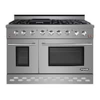 Shop Zline 48 In 6 Cu Ft 7 Gas Burner Electric Oven