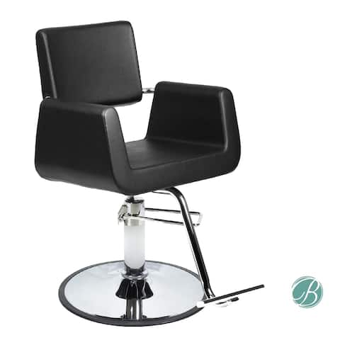 ARON Styling Chair (Black) A12 Pump Square Wide Width Styling Chair