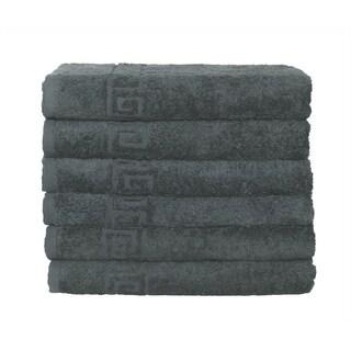 Solid Gray 6 piece 100% Cotton Hand Towel