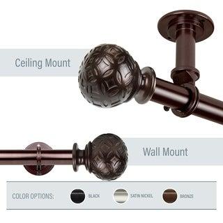 InStyleDesign Odette 1 inch Diameter Ceiling Curtain Rod/ Room Divider
