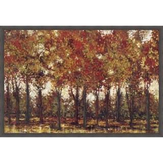 Bordeaux Trees Framed Canvas Wall Art