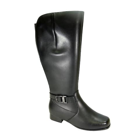 PEERAGE Gillian Women Extra Wide Width Wide Calf Leather KneeHigh Boot