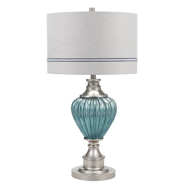 Shop Catalina Lighting Lilia Smoked Matte Blue Mercury Glass 32 Inch