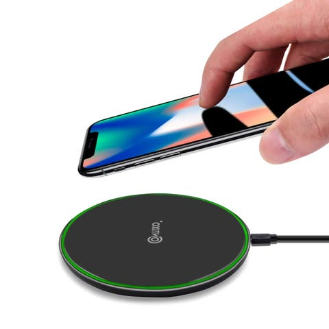 Contixo W2 Fast Wireless Charging Charger Pad Ultra-Thin Slim Design for Qi Compatible Smartphones