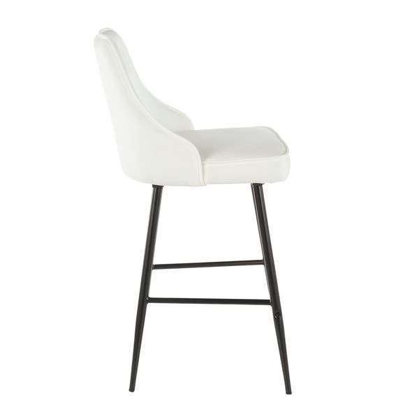 Fine Shop Silver Orchid Naldi Contemporary Black Counter Stool Bralicious Painted Fabric Chair Ideas Braliciousco