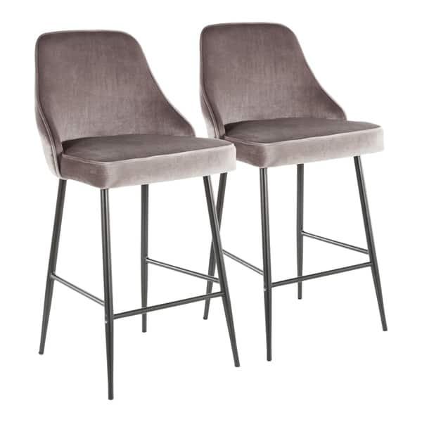 Strange Shop Silver Orchid Naldi Contemporary Black Counter Stool Bralicious Painted Fabric Chair Ideas Braliciousco