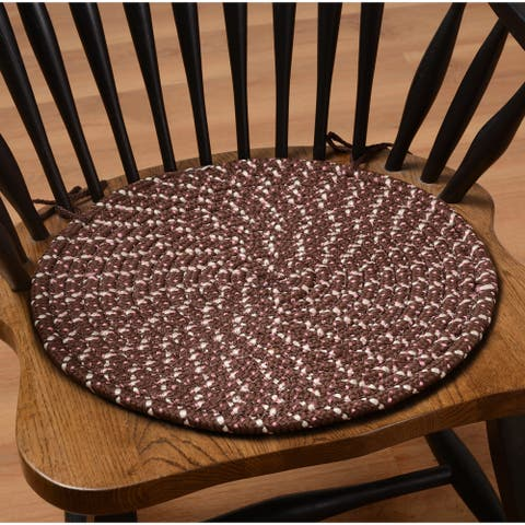 Set of 2 Braided Chair Pads