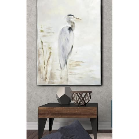 Heron Framed Canvas Wall Art