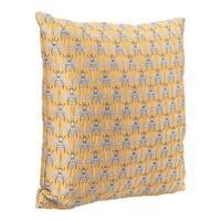 Bees Al Sol Pillow Yellow