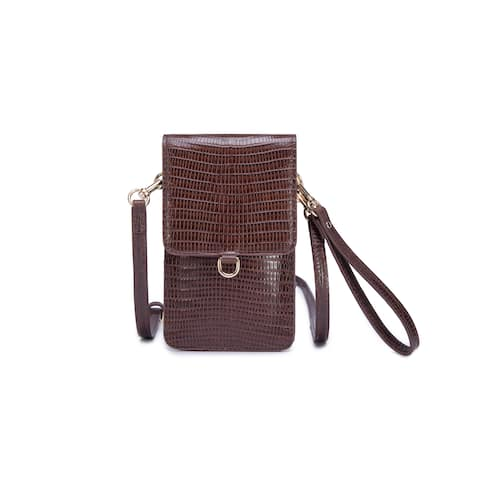 Avellino Leather Phone Crossbody Bag