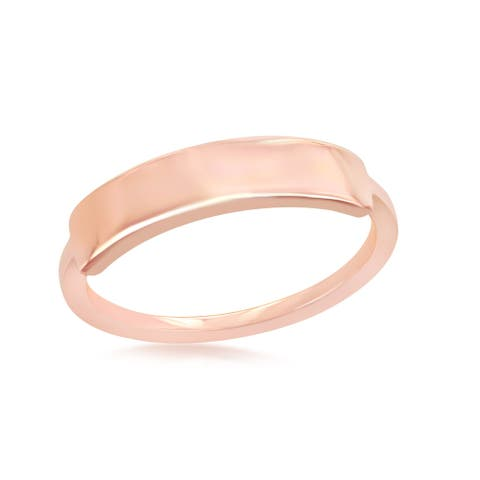 La Preciosa Sterling Silver 14K over Silver Rose Gold Engravable Ring