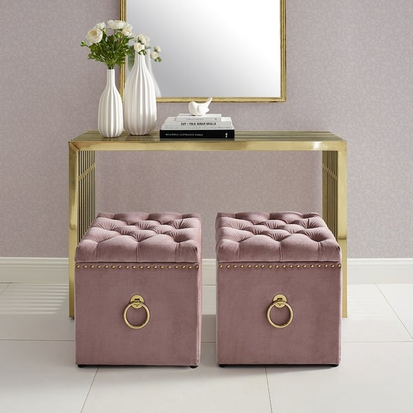 Silver Orchid Gish Storage Ottoman. Opens flyout.