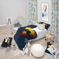 Designart 'Balloon dog fantasy' Animals Bedding Set - Duvet Cover & Shams