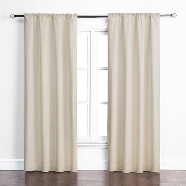 Ashbury Beige Cotton Room Darkening Curtains