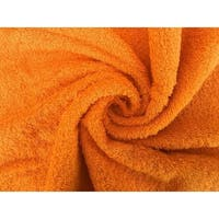 Solid Orange 6 piece 100% Cotton Hand Towel
