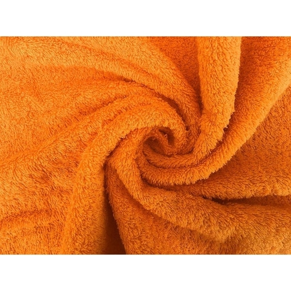 Solid Orange 6 piece 100% Cotton Hand Towel