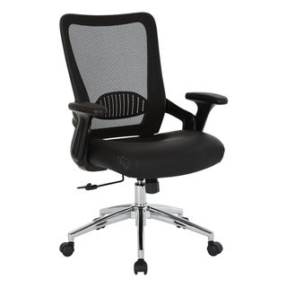Black Bonded Leather Seat Chair