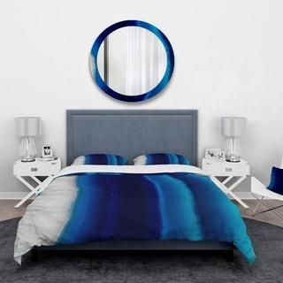 Designart 'Stone of blue agate crystal' Stone Bedding Set - Duvet Cover & Shams